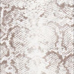 Leith Dresses - Leith Python Print Bodycon Ruched Angle Slit Dress